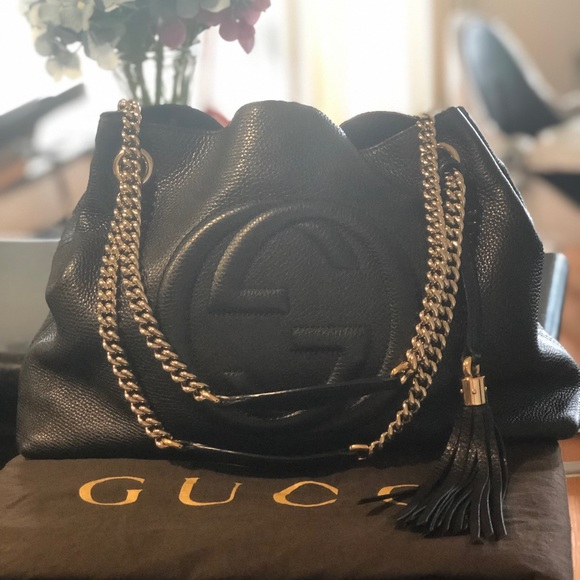 Gucci Handbags - Gucci Soho Medium Shoulder Tote Bag